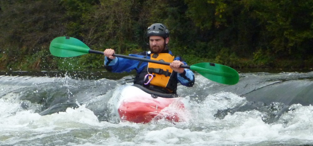 Me running a very little rapid on the Semois, Belgium